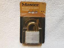 Federal Master Lock Co Padlock #40 Brass Heavy Duty 2 keys 5340014127004 40mm
