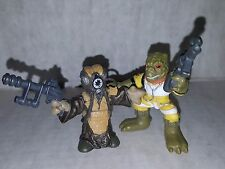 Star Wars Galactic Heroes Bossk & Zuckuss Hunters Action Figures Hasbro Loose