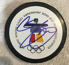 SIGNED 2010 Vancouver OLYMPIC PUCK TEAM CANADA CHRIS PRONGER HOF