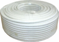 50m White RG6 Satellite Coax Cable Coaxial Lead for Sky HD, Freesat & Freeview