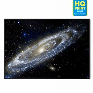 Andromeda Galaxy Universe Stars Space Poster Print | A5 A4 A3 |