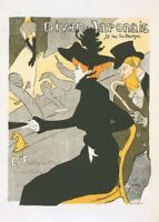 Divan Japonais by Tolouse Lautrec 90cm x 64cm Art Paper Print