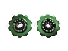 New MTB Road Bike Derailleur Jockey Wheel Solid Pulley 10T Green