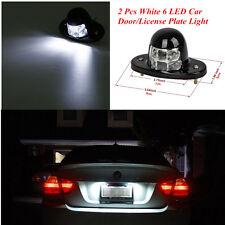 2 Pcs Bright White 6 LED Car SUV Door/License Plate Light Pickup Truck Bed Light