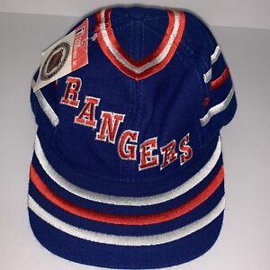 New York Rangers NHL Vintage Hockey Snapback Hat Cap Red White Blue 1990s NWT