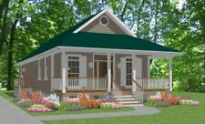Affordable Custom House Small Home Blueprints Plans 2 bedroom 1170 sf PDF
