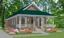 Affordable Custom House Small Home Blueprints Plans 2 bedroom 1170 sf PDF