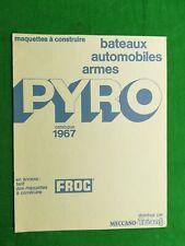 catalogue Pyro Frog Meccano Triang 1967 plastic kits toys 1/25 1/32 catalog
