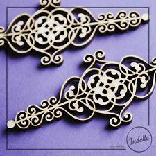 Paris Swirl Ornaments 2pcs/bag Wooden Shapes 3 mm Plywood MDF Blanks Decoupage
