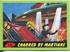 Mars Attacks Heritage Green Parallel Base Card #14    Charred by Martians