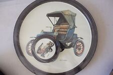 Vintage Car Metal Tray with Coasters 1904 Cadillac NEW! L#703