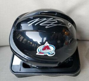 Nice! MATT DUCHENE #9 Colorado Avalanche AUTOGRAPH NHL Mini Helmet L@@k!!