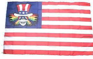 Grateful Dead Flag Uncle Sam USA 3x5 ft Concert Banner Flag