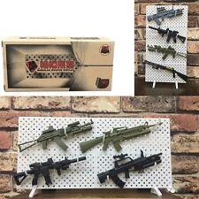 "1:6 1/6 Scale Modular Gun Rack Set 12"" Figure Weapons Display Wall  (No Weapon)"