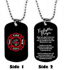 DOG TAG NECKLACE - Firefighter Prayer #1 Gift Birthday Fireman jewelry