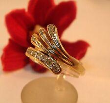 Kleiner Pierre Lang Ring mit Steinchen vergoldet Fingerring / bl 700