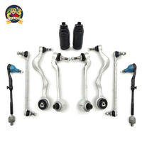 Front Lower Control Arm w/ Ball Joints Tie Rod End Sway Bar Link Boot Kit 10PC