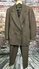 Vtg Clarks Men's Pinstripe Two Piece Suit Clothes Everywhere Brown 1940s-50s