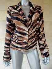 $149 Anne Klein Brown Camouflage Long Sleeves One Button Blazer Jacket Sz 14 NWT