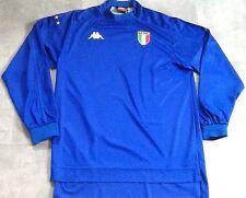 ITALY FOOTBALL SHIRT HOME 1998-1999 RARE VINTAGE KAPPA SIZE L LONG SLEEVES VGC