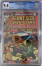 GIANT-SIZE SUPER-STARS FANTASTIC FOUR #1 1974 CGC 9.4 THING VS HULK