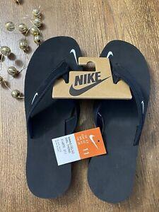 NIB Women's NIKE Black Flip Flops Sandals Thongs Beach Shoes SIZE 11 Celso Girl