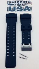 16mm Fits CASIO GA100 G-Shock Black Rubber Watch Band GA-110 GA-120 GA-300 GD100