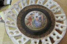 VINTAGE TEA CUP & SAUCER ROYAL HALSEY VERY FINE CHINA JAPAN EROTIC SCENE