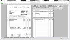 Rechnungsprogramm leicht zu bedienen Angebot Lieferschein Briefe Datenbanken APP