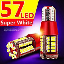 T10 194 168 3014 57-SMD 5W Led Canbus Bulbs Back Up Reverse Light White 12V New