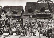 1934 Vintage 11x14 ~ INDONESIA ~ Nias Island Native Tribe Folk Dress Photo Art