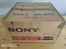 [Rare] Vintage Sony PS-230 Turntable - New in Box NIB