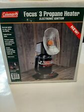 NEW Coleman Focus 3 Propane Heater 3000 btu.  NEVER LIT.  Loved by ice fishers!