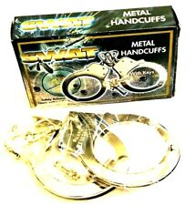 NEW SWAT METAL HANDCUFFS WITH KEYS SAFETY RELEASE HAND CUFFS FOR FANCY DRESS