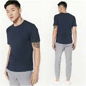 RECENT Lululemon 5 Year Basic Tee in Heathered Nautical Navy Men's Size Medium