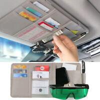Car Sun Visor Organizer Interior Pocket Sunglass Fuel Card Storage Accessories