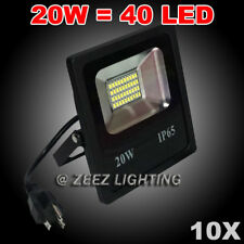 10X 20W Cool White LED Flood Light Outdoor Security Garden Landscape Spot Lamp