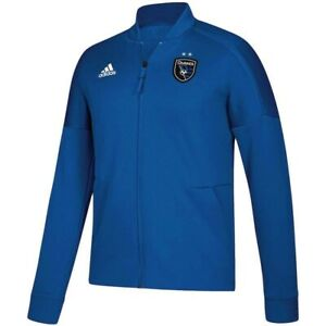 Adidas Men's San Jose Earthquakes Soccer Anthem Full Zip Jacket Jersey Large L
