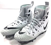 Nike Force Savage Elite TD Football Cleats White Black 857063-100 Mens Size 10