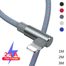 90 Degree Charger USB Cable For Apple iPhone 11 Pro 8 7 6s Plus 5 SE XR XS Max X