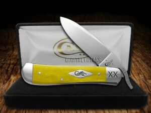 Case xx Russlock Knife Smooth Yellow Bone 1/500 23080 Stainless Pocket Knives