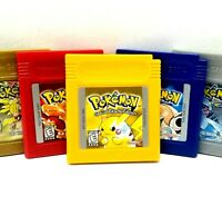 Authentic Pokemon Game Red Yellow Blue Silver Nintendo Game Boy GBC NEW BATTERY!