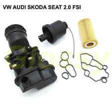 Ölfilter + Gehäuse + Kappe + Dichtungen Für Audi VW Seat Skoda 2.0 FSI