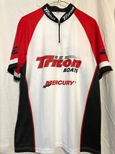 Team Triton Boats Mercury Fishing Jersey Shirt Size L Short Sleeve Large EUC