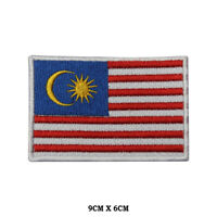 MALAYSIA National Flag Embroidered Patch Iron on Sew On Badge For Clothes etc