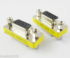 1pc VGA HD15 Converter Connector 15pin 3 row female to Jack Mini Gender Changer