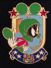 Table Tennis Pin Badge~Marvin the Martian~Looney Tunes~Olympic USA Team~Atlanta