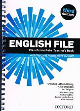 ENGLISH FILE Pre-Intermediate Third Ed Teachers Book w Test &Assmnt CD-ROM @NEW@