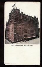1902 waldorf astoria hotel new york city postcard