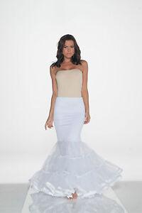 White Trumpet Mermaid Style Slip Petticoat Sz X-LARGE
